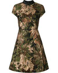 Shanghai Tang - メタリック フローラル ドレス - Lyst