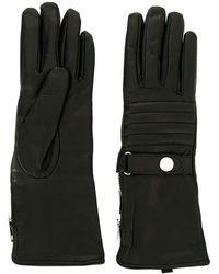 DIESEL Long Zip Detail Gloves - Black