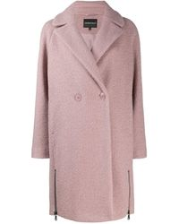 EA7 Double-breasted Coat - Pink