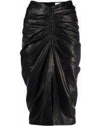 IRO Jinjai シャーリング スカート - ブラック