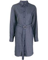 JOSEPH Fred Chambray Shirt Dress - Blue
