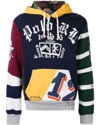 Polo Ralph Lauren - Sudadera con patchwork y capucha - Lyst