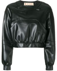 Marni | Cropped Leather Jacket | Lyst