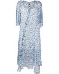 Acne Studios フローラル シャツドレス - ブルー