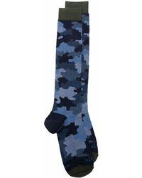 Altea Camouflage Patterned Ankle Socks - Blue