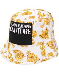 Versace Jeans ロゴ バケットハット - メタリック