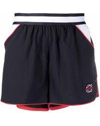COACH Shorts sportivi con ricamo - Blu
