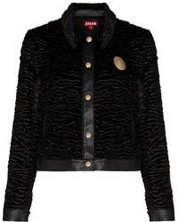 STAUD Buddha Faux Shearling Jacket - Black