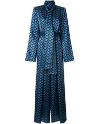 Solace London フローラル ジャンプスーツ - ブルー