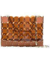 Paco Rabanne Transparent-disk Shoulder Bag - Brown