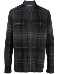 Ralph Lauren Purple Label Кашемировая Рубашка На Пуговицах - Серый