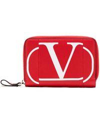 Valentino Garavani Vロゴ 財布 - レッド
