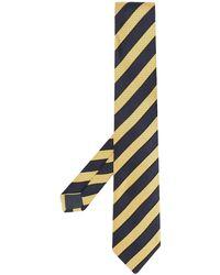 Ermenegildo Zegna Diagonal Stripe Tie - Grey