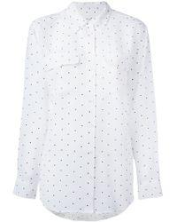 Equipment - Dot Print Shirt - Lyst
