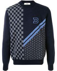 Bally インターシャ セーター - ブルー