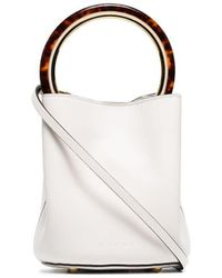 Marni Panier Bucket Bag - White