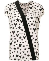 Fausto Puglisi - Star and heart print blouse - Lyst