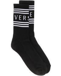 Versace Socken mit Logo-Print - Schwarz