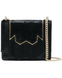 Just Cavalli - Embellished Panelled Shoulder Bag - Lyst