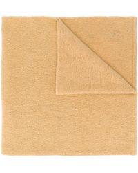 KENZO ロゴパッチ スカーフ - ブラウン