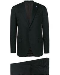 Lardini - Buttoned Suit Jacket - Lyst