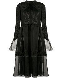 Renli Su ティアード ドレス - ブラック