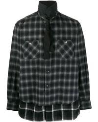 Sacai - レイヤード チェックシャツ - Lyst