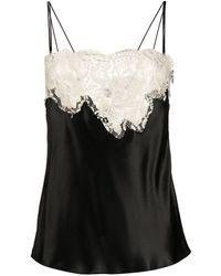 Dolce & Gabbana コントラストレース キャミソール - ブラック