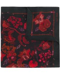 Paul Smith Pañuelo con estampado floral - Rojo