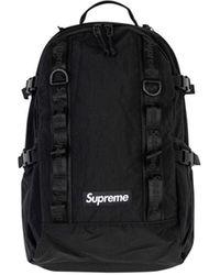 Supreme ロゴ バックパック - ブラック