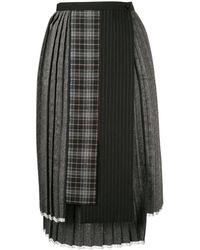 Antonio Marras パッチワーク スカート - ブラック