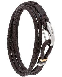 Paul Smith Braided Wrap-around Bracelet - Brown