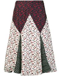 CALVIN KLEIN 205W39NYC Floral Print Mix Skirt - Белый