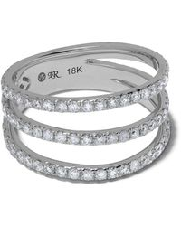 Loree Rodkin 18kt White Gold Triple Pave Band Diamond Ring - Metallic