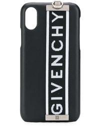 Givenchy Чехол Для Iphone X С Логотипом - Черный