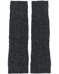 Pringle of Scotland リブニット手袋 - ブラック