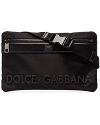 Dolce & Gabbana Sac banane à logo - Noir