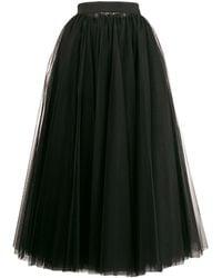 Dolce & Gabbana ロング チュールスカート - ブラック