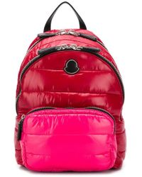 Moncler Logo quilted backpack - Rot