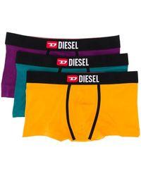 DIESEL Three-pack Of Boxers Briefs - Yellow