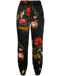 John Richmond - Floral Print Tapered Trousers - Lyst