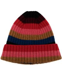 Molly Goddard Stripe-pattern Wool Beanie Hat - Red