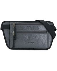 Balenciaga Sac banane Weekend - Gris