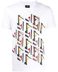 Fendi Futuristic Ff Tシャツ - マルチカラー