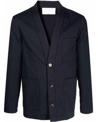 Societe Anonyme Blazer con cuello esmoquin - Azul