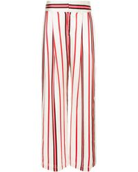 Maggie Marilyn Striped Wide-leg Trousers - レッド