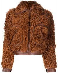 Zimmermann Tempo シアリング ジャケット - ブラウン