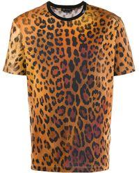 Versace Leopard Print T-shirt - Brown
