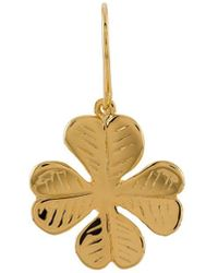 Aurelie Bidermann - Four-leaf Clover Pendant Earrings - Lyst
