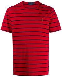 Ralph Lauren Футболка С Вышитым Логотипом - Красный